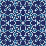 无缝的伊斯兰教的几何样式 抽象背景 库存例证