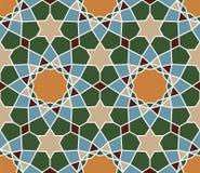无缝的伊斯兰教的几何样式 抽象背景 皇族释放例证