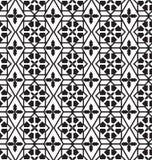 无缝的伊斯兰教的样式,抽象黑几何背景 库存例证