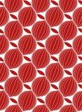 无缝的传染媒介摘要几何单色现代样式 红色和白色颜色 库存图片