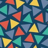 无缝的传染媒介样式三角任意地安置了 库存例证