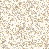 无缝的传染媒介样式花卉图案 免版税库存照片