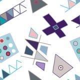 无缝的传染媒介样式,葡萄酒排行了与菱形,三角的不对称的几何背景 装饰的,墙纸印刷品, 向量例证