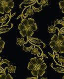 无缝的传染媒介花卉背景设计 向量例证
