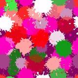无缝的传染媒介五颜六色的污点样式 库存图片