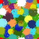 无缝的传染媒介五颜六色的污点样式 库存照片