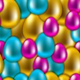 无缝的传染媒介复活节背景 向量例证