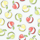 无缝的传染媒介样式用苹果 图库摄影