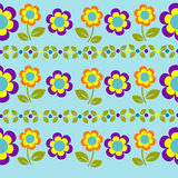 无缝的传染媒介样式花和叶子 库存照片