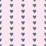 无缝的传染媒介样式,与明亮的宝石的对称背景以心脏的形式 免版税图库摄影