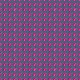 无缝的传染媒介样式,与明亮的桃红色宝石的对称背景以心脏的形式 库存照片
