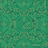 无缝的传染媒介样式-电子线路板背景 免版税库存照片