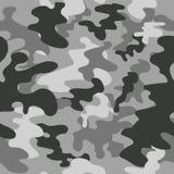 无缝的传染媒介正方形伪装样式灰色 免版税库存图片