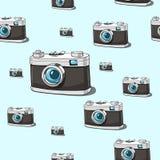 无缝的传染媒介照相机背景 免版税库存图片