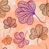 无缝的传染媒介生叶样式 库存照片