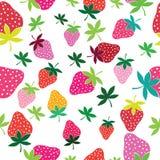 无缝的传染媒介草莓样式 库存照片