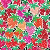无缝的传染媒介草莓样式 免版税库存照片
