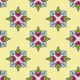 无缝的传统印地安花背景样式 免版税库存图片