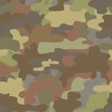 无缝的伪装军事样式褐色 库存照片