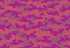 无缝的伪装样式花梢紫色 库存照片