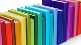 无缝的使成环的颜色精装书 皇族释放例证