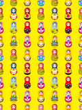 无缝的俄国玩偶模式 免版税库存照片