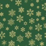 无缝的假日纹理,与金雪花装饰的纺织品,小册子,卡片的圣诞节样式 10 eps 皇族释放例证