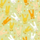 无缝的兔子 库存照片