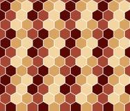无缝的六角五颜六色的抽象样式 库存照片