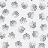无缝的六角形单色样式,重复几何纹理,线性结构背景 皇族释放例证