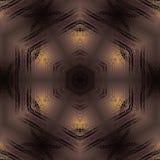 无缝的六角形样式金属棕色金黄淡光 库存图片