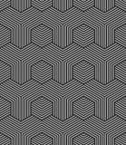 无缝的六角形样式 几何纹理 皇族释放例证