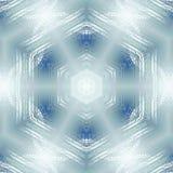 无缝的六角形样式绿松石白色 皇族释放例证
