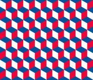 无缝的六角(立方体)样式 向量例证