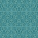 无缝的典雅的绿松石样式 免版税库存图片