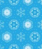 无缝的冬天颜色手拉的样式 库存图片