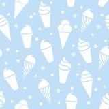 无缝的冰淇凌样式 皇族释放例证