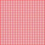 无缝的减速火箭的白红色方形的桌布 库存照片