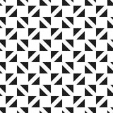 无缝的几何三角检查方形的样式背景 库存例证