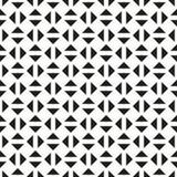 无缝的几何三角检查方形的样式背景 向量例证