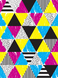 无缝的几何乱画样式 库存照片