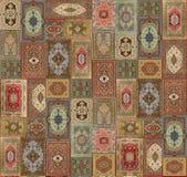 无缝的几何五颜六色的地毯设计样式 皇族释放例证