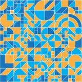 无缝的几何五颜六色的平的样式 向量例证