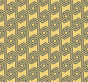 无缝的几何六角样式-传染媒介eps8 免版税库存照片
