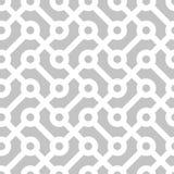 无缝的几何单色样式 免版税库存图片