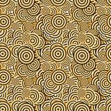 无缝的几何同心圆样式背景 向量例证