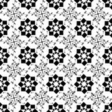 无缝的几何和花卉样式 免版税库存图片