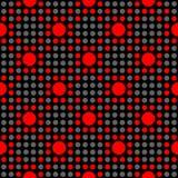 无缝的几何圆点样式 免版税库存照片