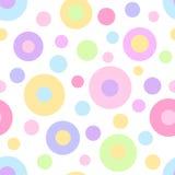 无缝的几何圆点样式 免版税库存图片