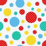 无缝的几何圆点样式 库存照片